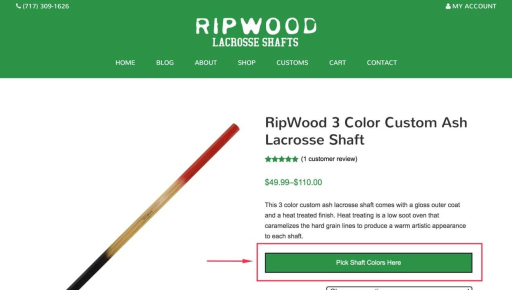 RipWood Lacrosse Builder Step 1